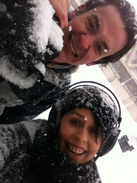 Weather Team: Feb 5-7. Jon Mace (reporter) and Kateryna Barnes (camera).
