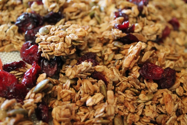 Maple Cinnamon Granola. K.Barnes