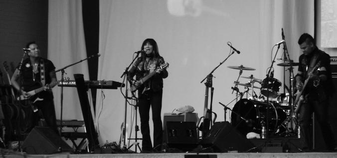 Buffy Sainte-Marie performing at the 2011 Calgary Folk Music Festival. photo by k.barnes