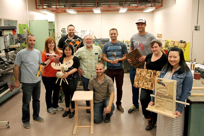 When asked to bring their favourite projects for the group photo, instructor Don McPherson said that all the students were his favourite project.